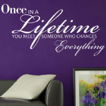 Once in a Lifetime ~ Wall sticker / decals